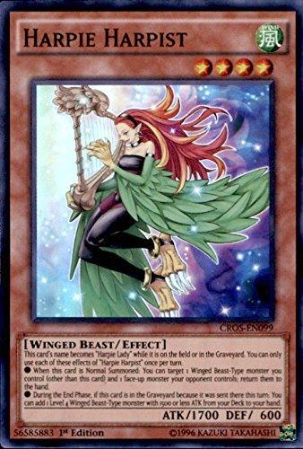 YU-GI-OH! - Harpie Harpist (CROS-EN099) - Crossed Souls - Unlimited Edition - Super Rare