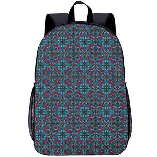 Printing Backpacks, Foliage Leaves, Kindergarten Cute Cartoon Schoolbag, 16 inch