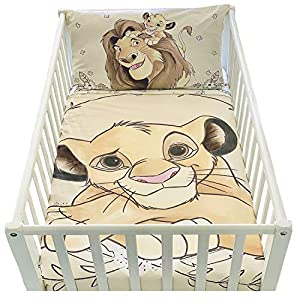 Funda nórdica de 100 x 135 cm y funda de almohada de 40 x 60 cm | Juego de cama de El rey león para cama de 60 x 120 o 70 x 140 cm | Juego de cama Disney