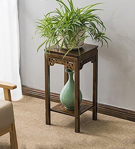 Stockage de pot de fleurs Stand de fleurs en bois massif style rétro Landing Pot rack salon intérieur balcon extérieur plante Bonsai Cadre décoratif Étagère de jardin (taille : 91cm)