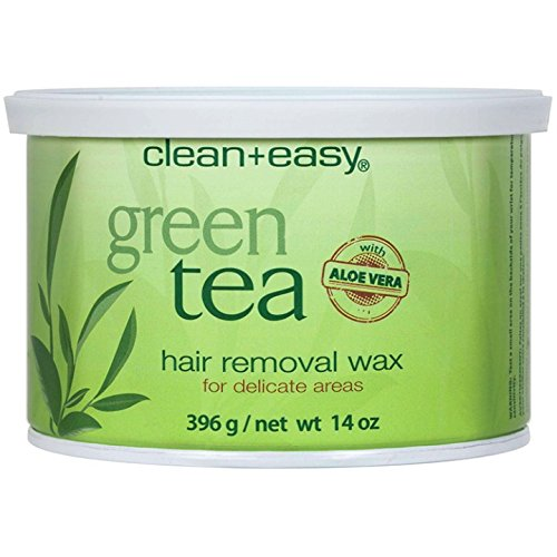 Clean + Easy Soft Wax Green Tea with Aloe Vera, 14 Ounce