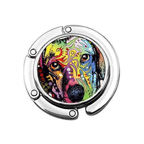 Dachshund Puppy Dog Monedero Gancho Plegable Bolso Percha Ganchos para Mantel Perchas pcs