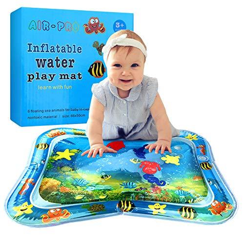swonuk Tappetino Gonfiabile Acqua Gonfiabile Playmat Tummy Tempo Mat Tappetino da Gioco per Bambini e Neonati 25.98*19.68 inch