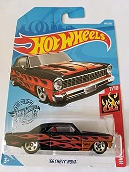 Hot Wheels 2019 Hw Flames -  66 Chevy Nova Black 143/250