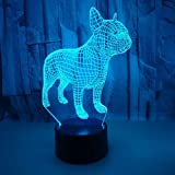 Puppy Colorful 3d Small Nightlight Touch Remote LED Visual Gift 3d Lights Novelty Usb LED Night Light