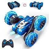 MissCat RC Cars Remote Control Car, RC Stunt Car for Kids 4WD 2.4Ghz Truck & Wheels Convert Interchange 2 in 1 360 Flips Vehicle Outdoor Car Toy for Age 8-12 Gift for Boys Girls
