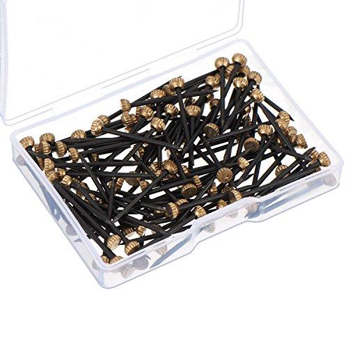 60 Stücke Bild Pins Messing Kopf Hängen Pins Nagelhaken Pins mit Kunststoff Aufbewahrungsbox