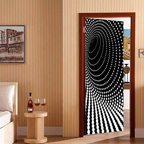 skwff etiqueta de la puerta wallpaper 3D Impresión arte moderno PVC 3D matriz de puntos blancos PVC sala de estar cocina baño