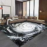Alfombra Diseño Alfombra Antideslizante Vórtice de Ojo de tifón Moderno GrisSala de Estar / Dormitorio / Estudio / Mesa de Centro Carpets 120*160