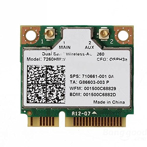 PhilMat Intel Dual Band Wireless-AC 7260HMW WiFi Bluetooth 4.0Half Mini PCI-E