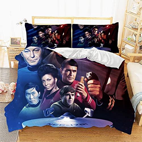 3D Druck Bettwäsche Set Bettbezug Mit Kissenbezug-Star Trek-Film-Duvet Cover Set: Single Size Included 1 Duvet Cover: Single(135x200 cm), 1 Pillowcase : 48cmx75cm. Best Gifts for Your Family!