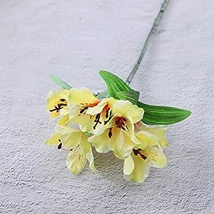 ZYL-YL Artificial Flower Home Decor Artificial Flower Narcissus Lily Fake Flower Home Decor Artificial Flower Countertop Flower (10Pcs)