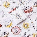 45 unids/Set Lindo Diario Pegatinas de papelería Paquete Chubby Rabbit Series Scrapbooking Sticky Escolar útiles Escolares TZ303