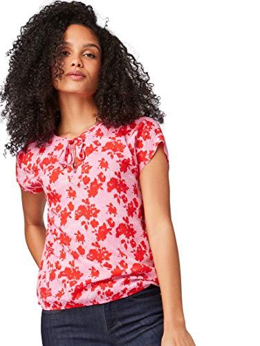 TOM TAILOR Damen 1009754 Bluse, Rosa (Pink Red Floral Desi 16948), (Herstellergröße: 38)