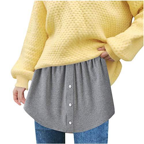 riou Falda Mujer Mini Corto Elstica Bsica Talla Grande con Estampado Rayas Transparentes Escalonadas en Capas Falda Casual