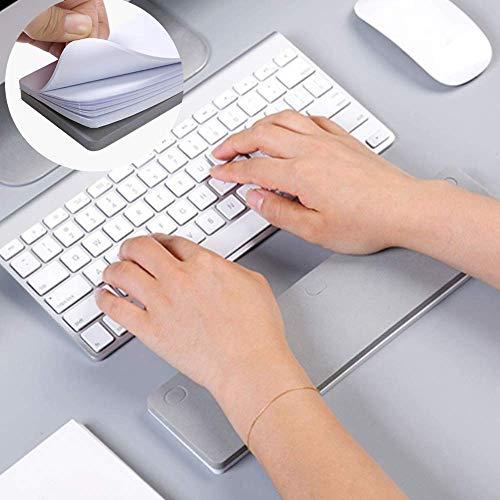 コンピュータ手首肘パッド 付箋 2in1セットアップグレード 腕パッド 付箋 50枚 キーボード手首肘サポートマットオフィスのデスクトップゲーム操作 ポストイット手首 マット 多機能 グレー