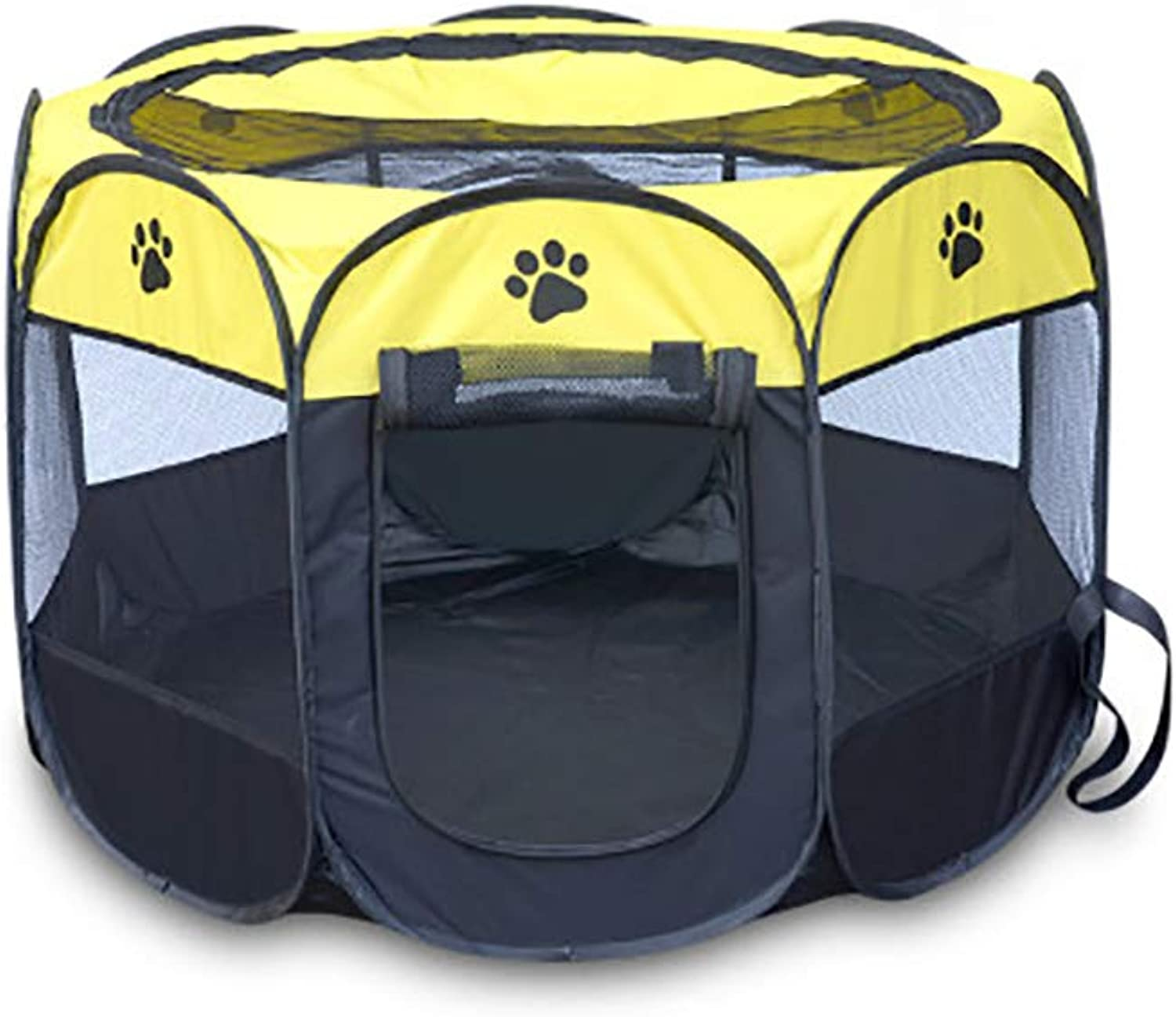 Cats and Dogs Housing fold Easy to Carry Outdoor pet nest (color   B6, Size   91  91  58CM)