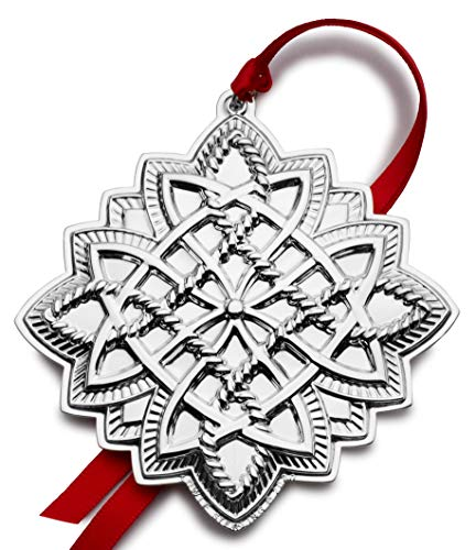 Towle 5254022 Annual Sterling Silver Celtic Cross 2020 Holiday Ornament, 21st Edition, Metal