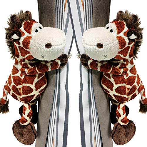 TYX-SS Curtain Buckle Tie Back Rope Giraffe Curtain Straps Holder Clips Children