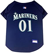 Pets First premier Manufacturer of innovative oat clothing and accessories Baseball team colors and logo. Constructed of breathable micromesh polyester, V-neck cut is stylish and comfort fitting. Manufactured in China