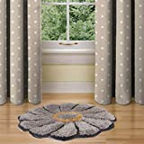 Ruhal Fabb® Silver Sunflower Rugs for Bedroom/Living Room/Bathroom/Kitchen - Hand Woven Home Decoration
