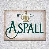 TLATM Aspall - Placa de metal para decoración de pared, diseño retro de sidra de alcohol, ideal como regalo de 30,5 x 20,3 cm