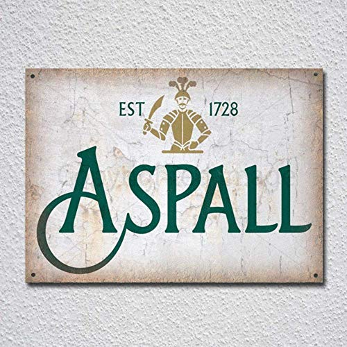 DKISEE Aluminum Safety Sign Aspall Cider Vintage Alcohol Advertising Durable Rust Proof Warning Sign Aluminum Metal Sign 8