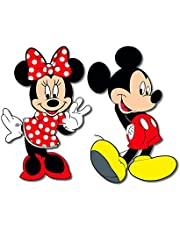 Bhai Please Mickey and Minnie Wooden Fridge Magnet (Pack of 1) Fun Comic Character Gift and Decoration