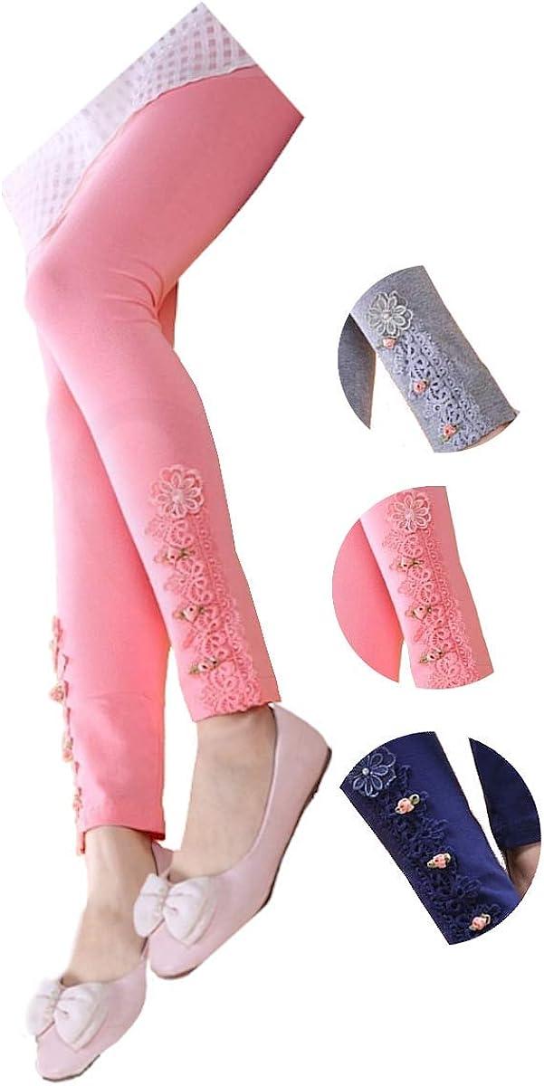 School Girls' Capri Lace Leggings Pan Strechable Deluxe 5-12Y Inexpensive Kids Long