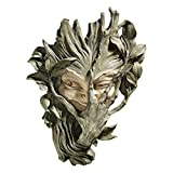 Design Toscano CL5369 Bashful Wood Sprite Tree Face Mystic Decor Wall Sculpture, 13 Inch, Two Tone Stone