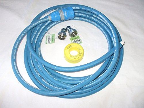 Ökologischer Abflussreiniger mit Wasserdruck, blau