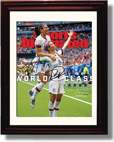 Framed US Women's Soccer World Cup - Alex Morgan & Megan Rapinoe SI Autograph Replica Print