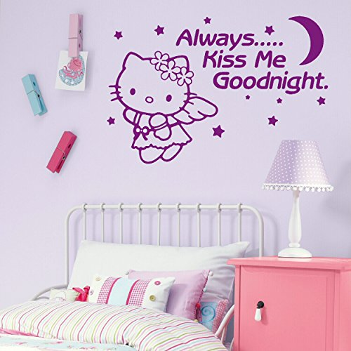 LaoGraphics® Pegatinas de pared con cita de Hello Kitty para niñas pequeñas, para niños, decoración de dormitorio infantil, idea de regalo zzz-go7