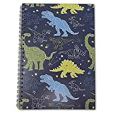 Dinosaur Notebook – A5 / 21cm x 15cm / Wirebound/Lined and Plain / 100 Pages/Childrens Notepad/Kids...