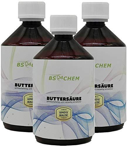 BS24CHEM ® Artiknr.53346 1500ml Buttersäure Gebrauchsfertig für viele Anwendungen geeignet. *Neu* in der EU als Marke eingetragen und zugelassen. l(3x500)