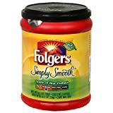 Folgers Simply Smooth Ground Coffee, 11.5 Ounce Tubs (Pack of 6)
