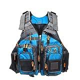 Amarine Made Fly Fishing Vest Pack (Fishing Vest/Fishing Sling Pack/Fishing Backpack) (Blue)