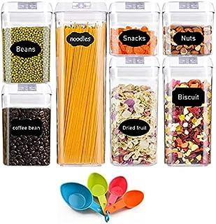 JOLIGAEA 7 Pcs Boîte de Conservation Alimentaire, Boîtes de Rangement pour Céréales sans BPA, Récipient de Stockage en Pla...