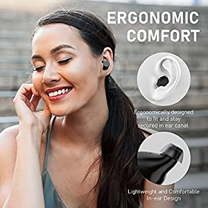 Doubc Wireless Earbuds Bluetooth 5.0 Earphones Sport Noise Cancelling True in Ear Headphones IP7 Waterproof 48H Playtime, HI-FI Bass Stereo Sound Built in Mic Cordless Ear Buds for Workout Running