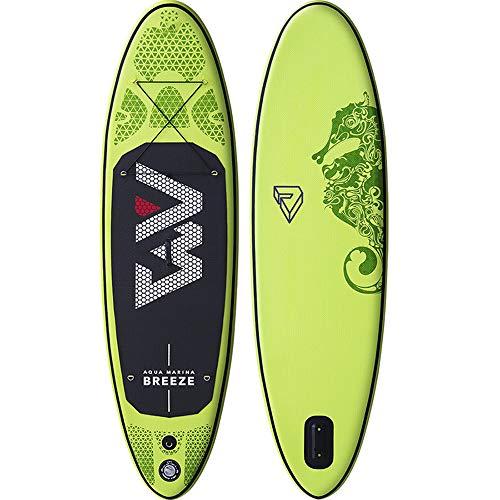 Aufblasbares SUP Paddle Board Yoga und leichtes iSUP für Anfänger mit Double Layer Fusion Dropstitch Konstruktionszubehör mit Paddle Pump Rucksack Flossen Fuß Seil Wasserski