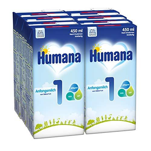 Humana Anfangsmilch 1 trinkfertig, 8er Pack (8 x 450 ml)