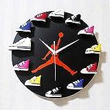 Zapatillas De Deporte 3D Reloj De Pared Zapatillas De Deporte Reloj De Vinilo Decorativo Diseño Moderno Arte De La ParedDecoración para El Hogar, Tipo 001