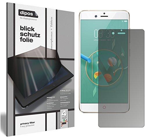 dipos I Blickschutzfolie matt kompatibel mit Nubia Z17 Mini Sichtschutz-Folie Bildschirm-Schutzfolie Privacy-Filter