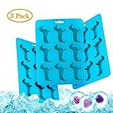 Animal Ice Cubes Molds Durable and Dishwasher Safe Ice Tray Novelty Dachshund Dog