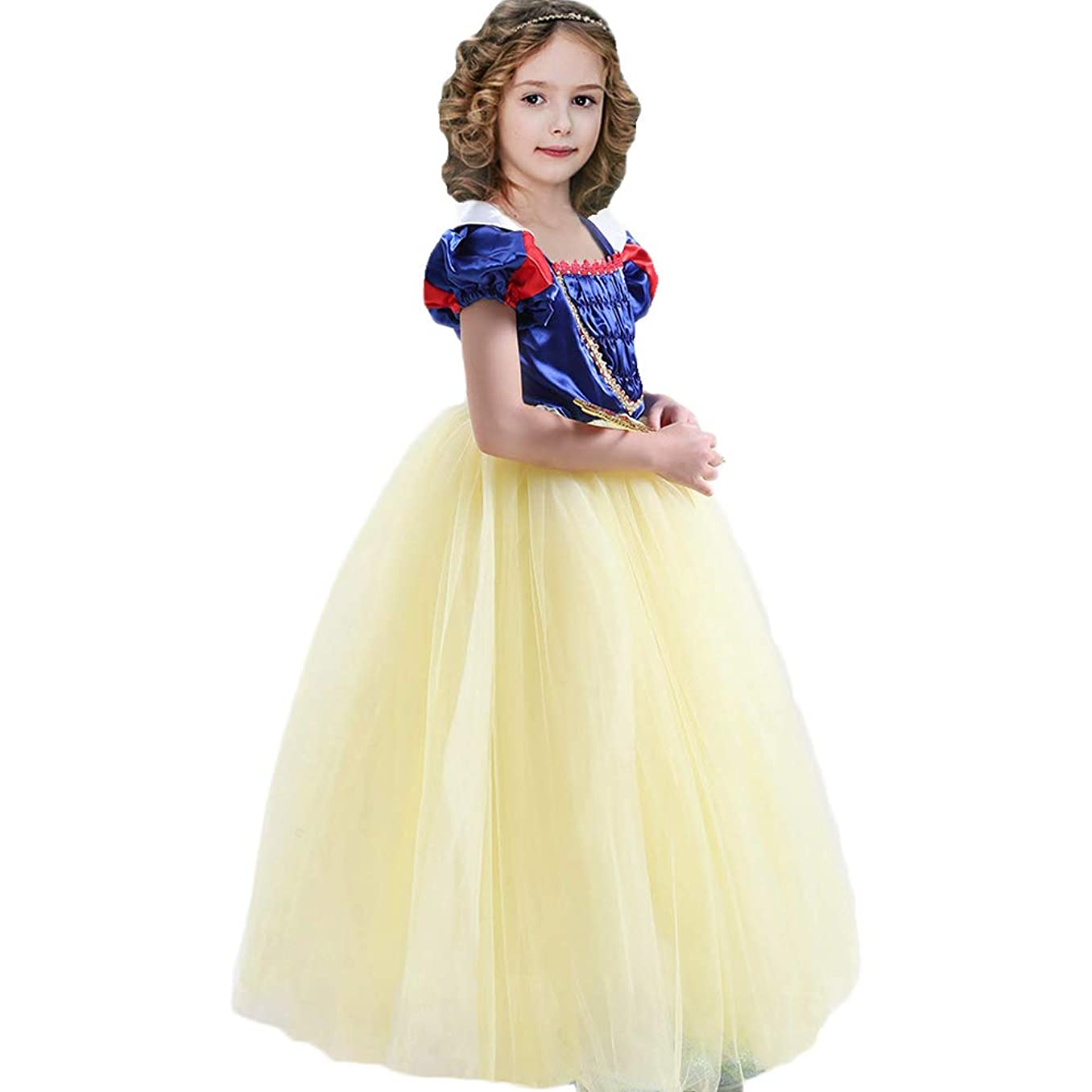 CQDY Snow White Costume for Girls Dress up Princess Dress Halloween/Party/Christmas Special Occasion for 2-11T