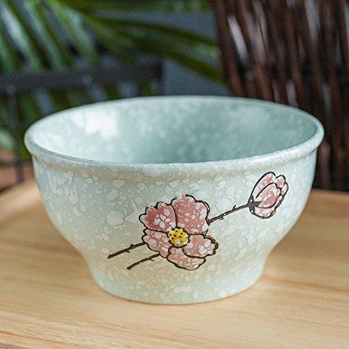 WRL Bol en Céramique de Style Japonais Bol de Riz de 4,5 Pouces Petit Bol de Soupe Flocon de Neige Bol de Couleur sous Glaçure 10 Paquet,Ré,10