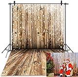 Daniu Photo Backdrops Piso de Madera para Estudio Fotografía Telones de Fondo Vinilo 5x7FT 150cm X 210cm