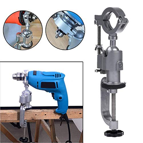 Mini Electric Drill Holder stand 360 Degree Clamp-on Grinder Holder Table Vise Drill Stand Bracket Rotary Tool Bench Vise
