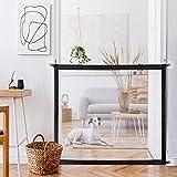 Puerta mágica para perros, puerta portátil y plegable para separar a bebés y mascotas, puerta mágica para bebé con 8 ganchos adhesivos, puertas de seguridad reubicables para niños (Negro-II)