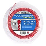 Weed Warrior 17066 .065' Diameter x 100' Bi-Component Twist Trimmer Line, Red Core/Silver Tips